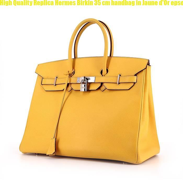 23908e4adb53 High Quality Replica Hermes Birkin 35 cm handbag in Jaune d Or epsom leather