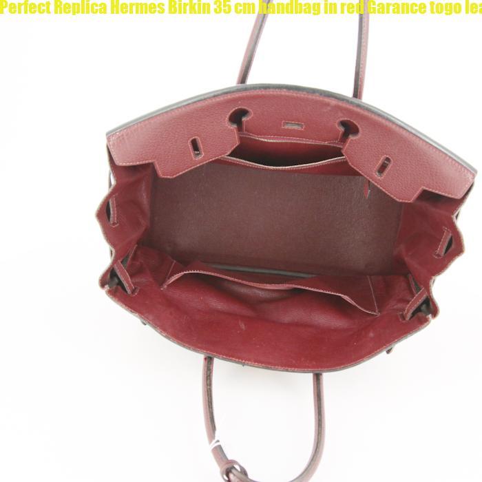 Perfect Replica Hermes Birkin 35 cm handbag in red Garance togo leather 6269ba25f3e08