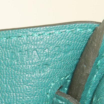 76e52e512b67 UK Replica Hermes Birkin 25 cm handbag in malachite green togo leather