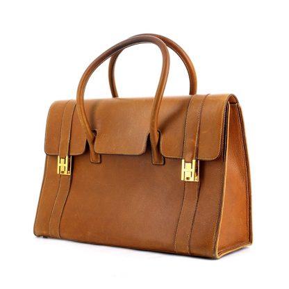 80548dd6477a UK Replica Hermes Drag handbag in gold leather – Hermes Replica ...